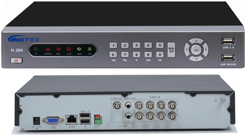 DVR 8 Channel H264 Real Time Monitoring At The Same Time Playback