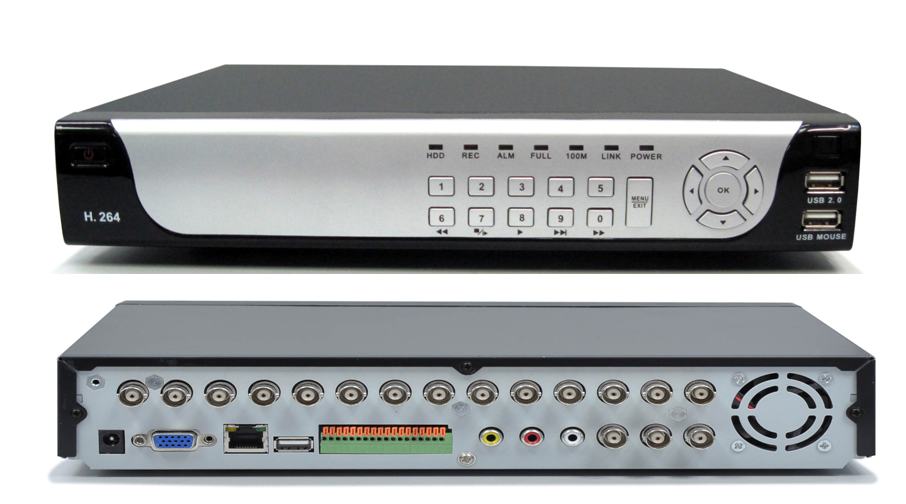 16 Way DVR H264 Enconomical Network Hard Disk Vedeo Recorder
