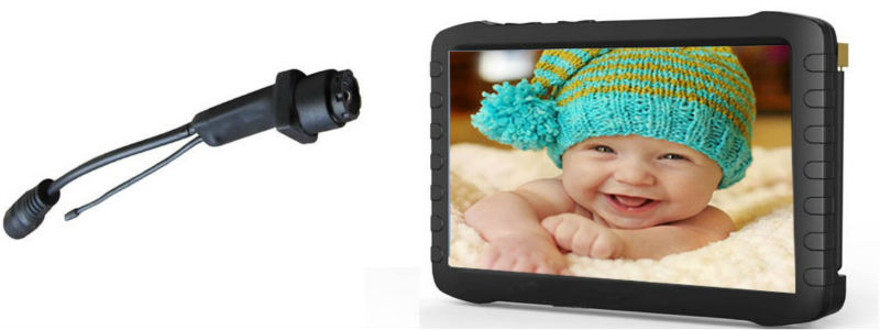 50deg Wireless Mini Camera + 5.8GHz Wireless 5inch HD DVR Protable Monitor Receiver