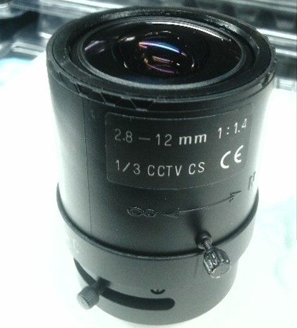 2.8-12MM Manual Aperture Zoom Lens For CCTV Camera