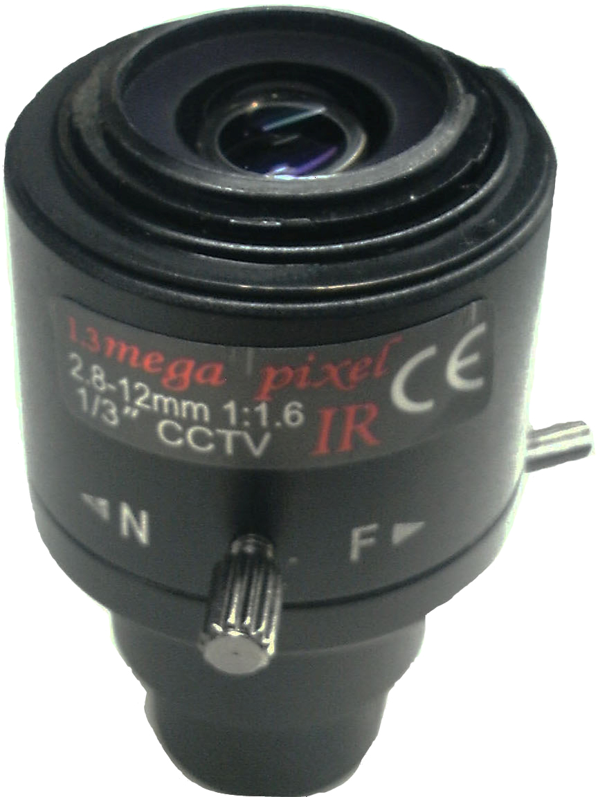 1/3 HD 2.8-12mm Lens Manual Focus F1.6 Million Pixels for Camera