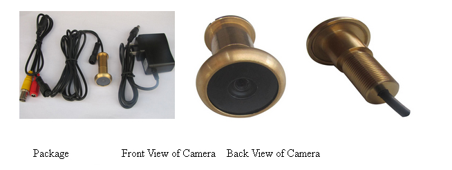 13.8mm Diameter 90deg View Angle 0.008lux Door Peephole Viewer Camera
