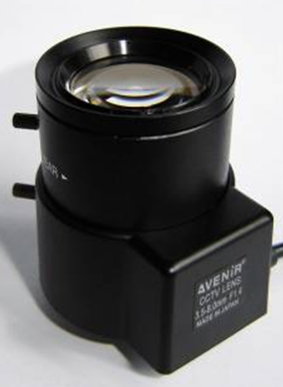 3.5-8mm Big Caliber Manual Zoom CCTV Lens For Banks Parking System