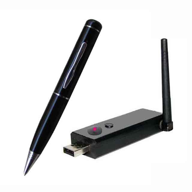 2.4G Wireless Ultra-low lux Pen Camera + Wireless USB Receiver DVR Distance 100M