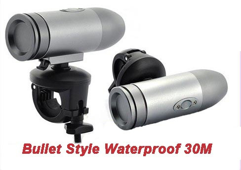 720P 30FPS Waterproof 30M HD DV Bullet Action Camera Sport Helmet Camcorder
